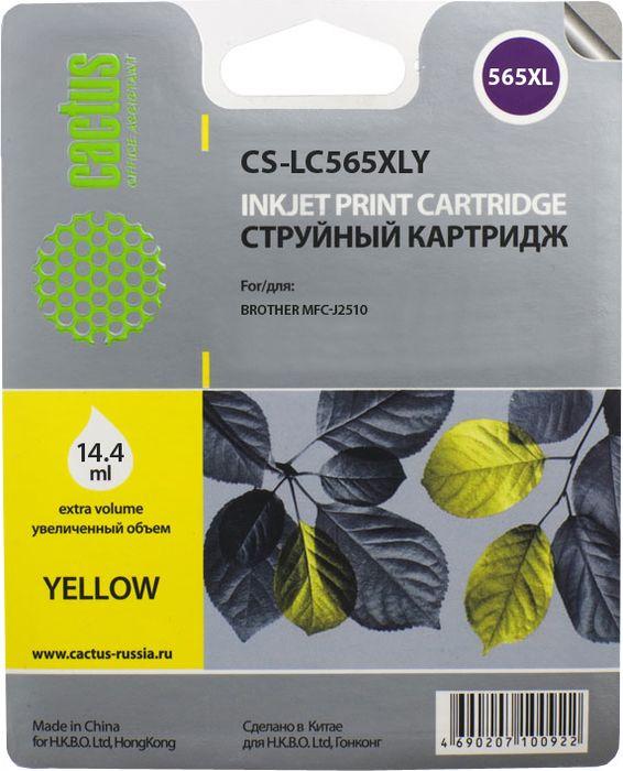 Cactus CS-LCXLY, Yellow картридж струйный для Brother MFC-J2510CS-LCXLYКартридж Cactus CS-LCXLY для струйных принтеров Brother MFC-J2510. Расходные материалы Cactus для печати максимизируют характеристики принтера. Обеспечивают повышенную четкость изображения и плавность переходов оттенков и полутонов, позволяют отображать мельчайшие детали изображения. Обеспечивают надежное качество печати.