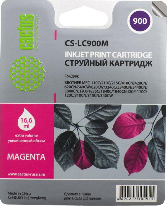 Cactus CS-LC900M, Magenta картридж струйный для Brother DCP-110/115/120/MFC-210/215/FAX-1840