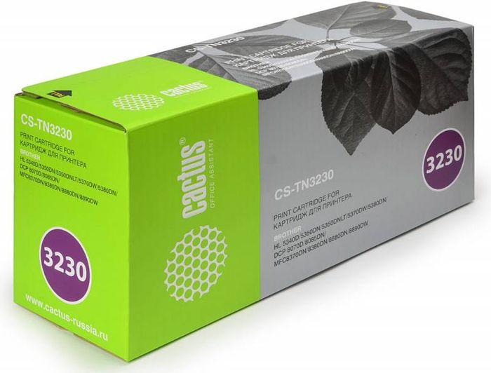 Cactus CS-TN3230, Black тонер-картридж для Brother HL-5340D/5350DN/5370DW/DCP-8070D/8085DNCS-TN3230Тонер-картридж Cactus CS-TN3230 для лазерных принтеров Brother. Расходные материалы Cactus для лазерной печати максимизируют характеристики принтера. Обеспечивают повышенную чёткость чёрного текста и плавность переходов оттенков серого цвета и полутонов, позволяют отображать мельчайшие детали изображения. Гарантируют надежное качество печати.