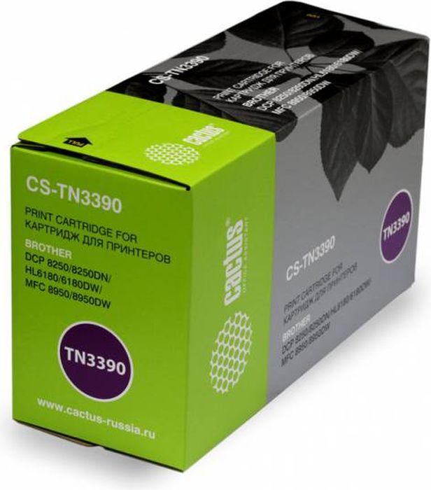 Cactus CS-TN3390, Black тонер-картридж для Brother DCP-8250/8250DN/HL6180/6180DW/MFC-8950CS-TN3390Тонер Картридж Cactus CS-TN3390 черный для Brother DCP-8250/8250DN/HL6180/6180DW/MFC-8950 (12000стр.)