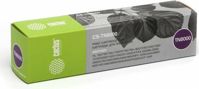 Cactus CS-TN8000, Black тонер-картридж для Brother HL-720/730/730+/730DX/760/760+