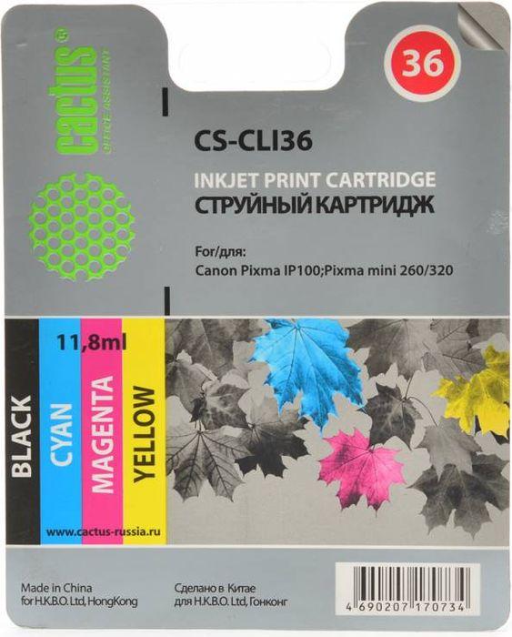 Cactus CS-CLI36, Color картридж струйный для Canon Pixma 260CS-CLI36Картридж Cactus CS-CLI36 для струйных принтеров Canon Pixma 260. Расходные материалы Cactus для печати максимизируют характеристики принтера. Обеспечивают повышенную четкость изображения и плавность переходов оттенков и полутонов, позволяют отображать мельчайшие детали изображения. Обеспечивают надежное качество печати.