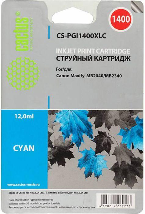 Cactus CS-PGI1400XLC, Cyan картридж струйный для Canon MB2050/MB2350/MB2040/MB2340CS-PGI1400XLCКартридж Cactus CS-PGI1400XLC для струйных принтеров Canon MB2050/MB2350/MB2040/MB2340. Расходные материалы Cactus для печати максимизируют характеристики принтера. Обеспечивают повышенную четкость изображения и плавность переходов оттенков и полутонов, позволяют отображать мельчайшие детали изображения. Обеспечивают надежное качество печати.