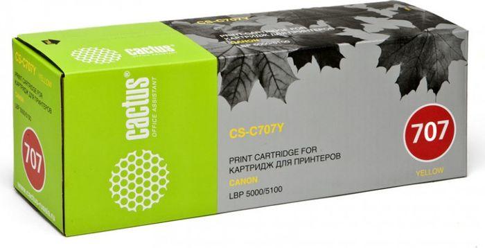 Cactus CS-C707Y, Yellow тонер-картридж для Canon LBP i-Sensys 5000/5100CS-C707YТонер-картридж Cactus CS-C707Y для лазерных принтеров Canon LBP i-Sensys 5000/5100. Расходные материалы Cactus для лазерной печати максимизируют характеристики принтера. Обеспечивают повышенную чёткость чёрного текста и плавность переходов оттенков серого цвета и полутонов, позволяют отображать мельчайшие детали изображения. Гарантируют надежное качество печати.