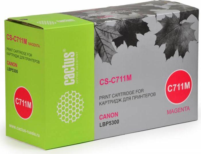 Cactus CS-C711M, Magenta тонер-картридж для Canon LBP5300CS-C711MТонер-картридж Cactus CS-C711M для лазерных принтеров Canon LBP5300. Расходные материалы Cactus для лазерной печати максимизируют характеристики принтера. Обеспечивают повышенную чёткость чёрного текста и плавность переходов оттенков серого цвета и полутонов, позволяют отображать мельчайшие детали изображения. Гарантируют надежное качество печати.
