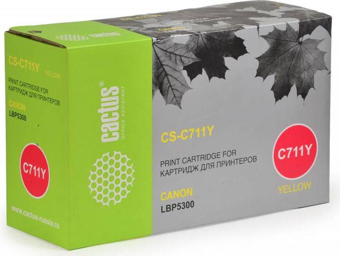 Cactus CS-C711Y, Yellow тонер-картридж для Canon LBP5300CS-C711YТонер-картридж Cactus CS-C711Y для лазерных принтеров Canon LBP5300. Расходные материалы Cactus для лазерной печати максимизируют характеристики принтера. Обеспечивают повышенную чёткость чёрного текста и плавность переходов оттенков серого цвета и полутонов, позволяют отображать мельчайшие детали изображения. Гарантируют надежное качество печати.