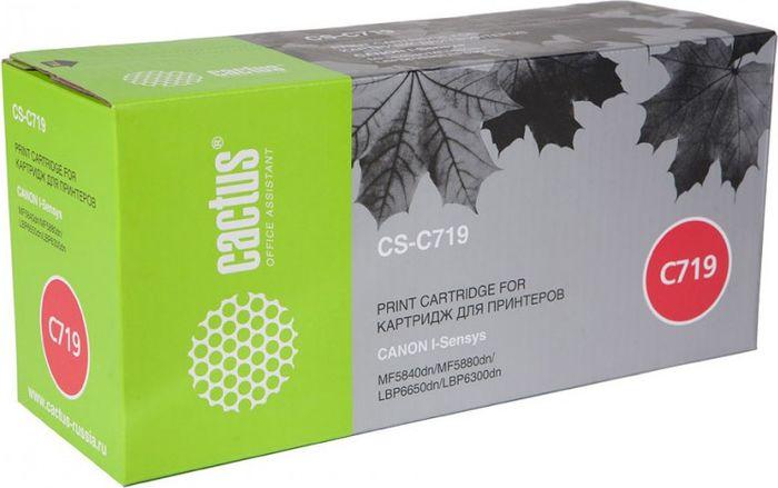Cactus CS-C719, Black тонер-картридж для Canon i-Sensys MF5840/MF5880/LBP6300/6650CS-C719Тонер Картридж Cactus CS-C719 черный для Canon i-SENSYS MF5840 MF5880 LBP6300 6650 (2100стр.)
