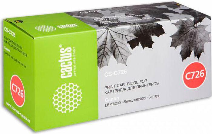 Cactus CS-C726S, Black тонер-картридж для Canon LBP-6200/6200DCS-C726SКартридж Cactus CS-C726S для лазерных принтеров Canon LBP-6200/6200D Расходные материалы CACTUS для монохромной лазерной печати максимизируют характеристики принтера. Обеспечивают повышенную чёткость чёрного текста и плавность переходов оттенков серого цвета и полутонов, позволяют отображать мельчайшие детали изображения. Обеспечивают надежное качество печати.