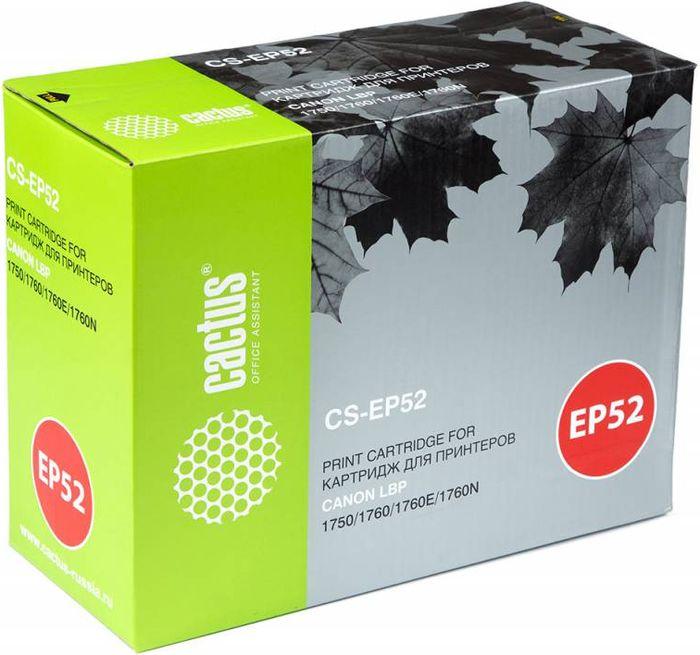 Cactus CS-EP52, Black тонер-картридж для Canon LBP 1750/1760/1760E/1760NCS-EP52Тонер-картридж Cactus CS-EP52 для лазерных принтеров Canon LBP 1750/1760/1760E/1760N. Расходные материалы Cactus для лазерной печати максимизируют характеристики принтера. Обеспечивают повышенную чёткость чёрного текста и плавность переходов оттенков серого цвета и полутонов, позволяют отображать мельчайшие детали изображения. Гарантируют надежное качество печати.