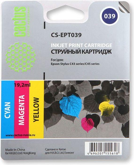 Cactus CS-EPT039, Color картридж струйный для Epson Stylus C43