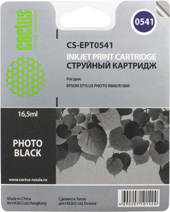 Cactus CS-EPT0541, Black картридж струйный для Epson Stylus Photo R800/R1800