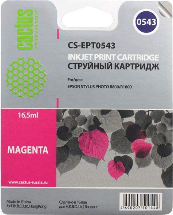 Cactus CS-EPT0543, Magenta картридж струйный для Epson Stylus Photo R800/R1800