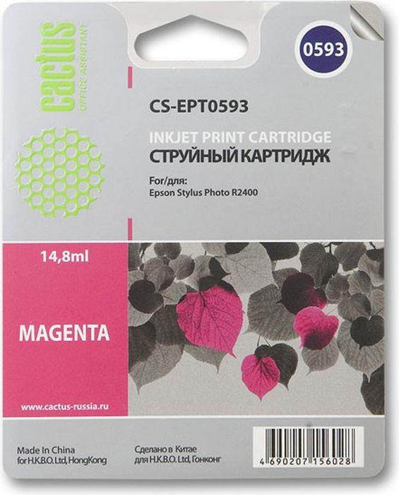 Cactus CS-EPT0593, Magenta картридж струйный для Epson Stylus Photo R2400