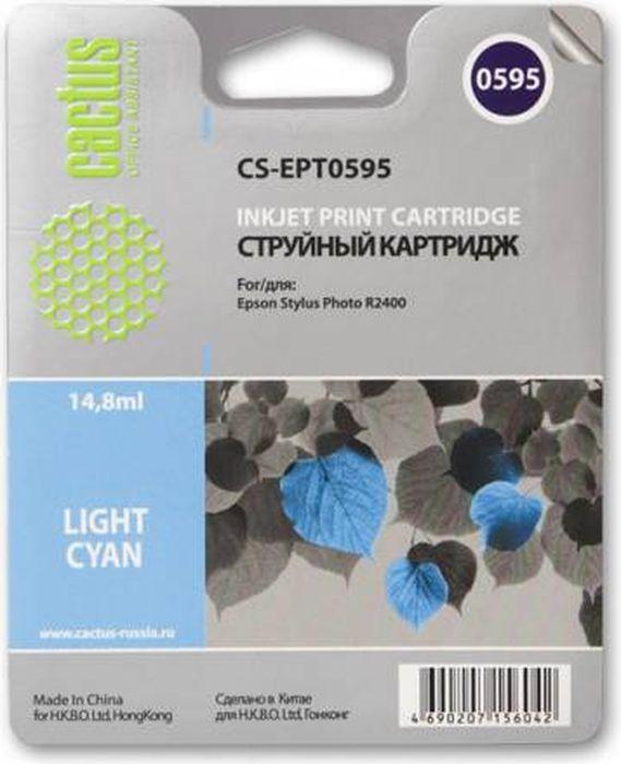 Cactus CS-EPT0595, Light Cyan картридж струйный для Epson Stylus Photo R2400