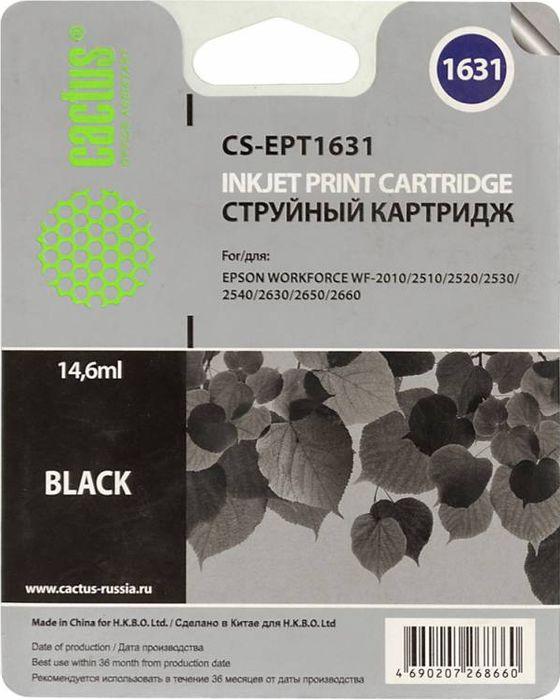 Cactus CS-EPT1631, Black картридж струйный для Epson WF-2010/2510/2520/2530/2540/2630/2650/2660CS-EPT1631Картридж струйный Cactus CS-EPT1631 черный для Epson WF-2010/2510/2520/2530/2540/2630/2650/2660 (14.6мл)