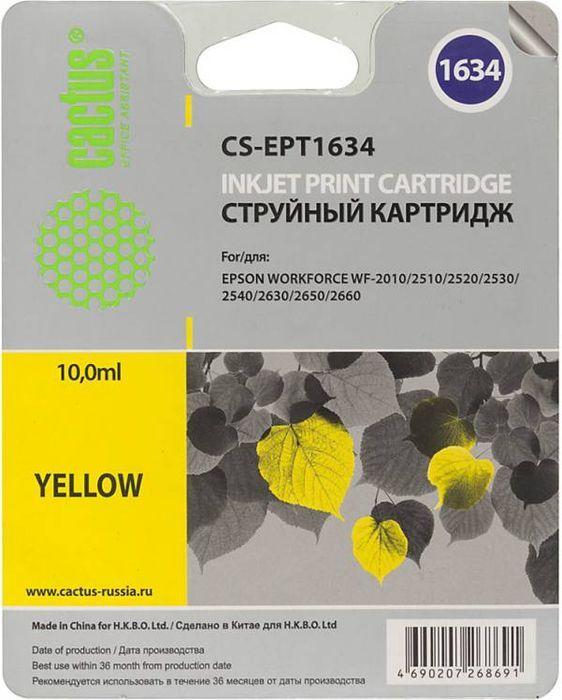 Cactus CS-EPT1634, Yellow картридж струйный для Epson WF-2010/2510/2520/2530/2540/2630/2650/2660CS-EPT1634Картридж Cactus CS-EPT1634 для струйных принтеров Epson WF-2010/2510/2520/2530/2540/2630/2650/2660. Расходные материалы Cactus для печати максимизируют характеристики принтера. Обеспечивают повышенную четкость изображения и плавность переходов оттенков и полутонов, позволяют отображать мельчайшие детали изображения. Обеспечивают надежное качество печати.