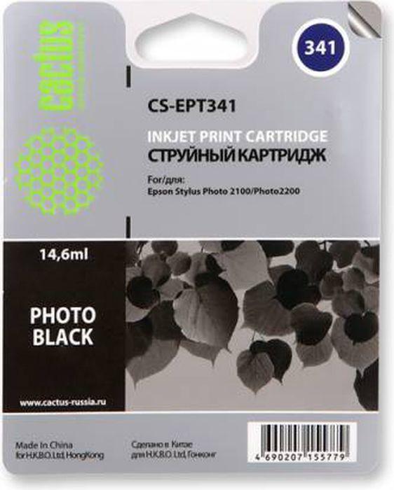 Cactus CS-EPT341, Black картридж струйный для Epson Stylus Photo 2100