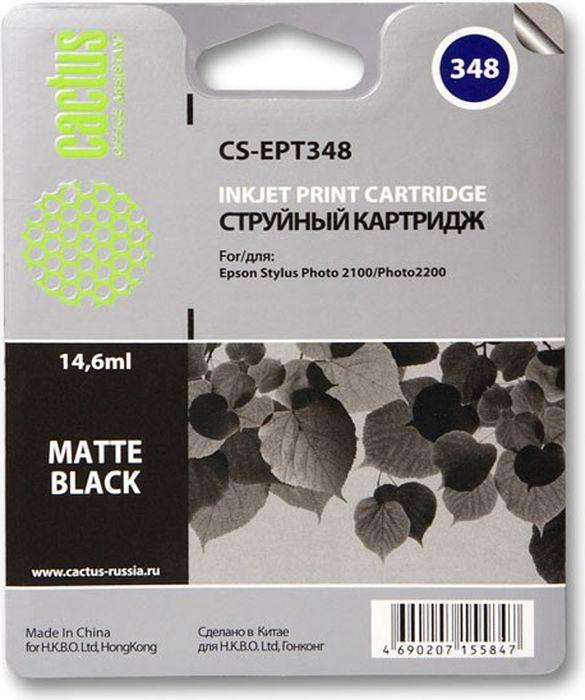 Cactus CS-EPT348, Matte Black матовый картридж струйный для Epson Stylus Photo 2100