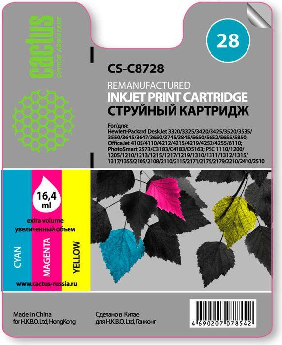 Cactus CS-C8728 №28, Color картридж струйный для HP DJ 3320/3325/3420/3425/3520CS-C8728Картридж Cactus CS-C8728 №28 для струйных принтеров HP DJ 3320/3325/3420/3425/3520. Расходные материалы Cactus для печати максимизируют характеристики принтера. Обеспечивают повышенную четкость изображения и плавность переходов оттенков и полутонов, позволяют отображать мельчайшие детали изображения. Обеспечивают надежное качество печати.