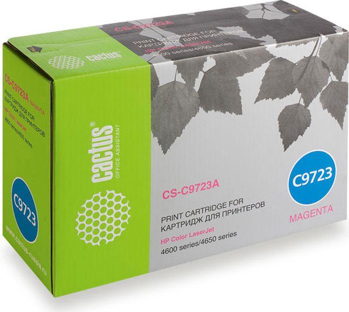 Cactus CS-C9723A, Magenta тонер-картридж для HP CLJ 4600/4650CS-C9723AТонер-картридж Cactus CS-C9723A для лазерных принтеров HP CLJ 4600/4650. Расходные материалы Cactus для лазерной печати максимизируют характеристики принтера. Обеспечивают повышенную чёткость чёрного текста и плавность переходов оттенков серого цвета и полутонов, позволяют отображать мельчайшие детали изображения. Гарантируют надежное качество печати.