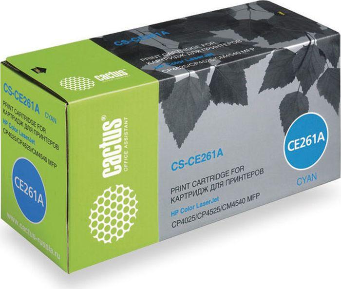 Cactus CS-CE261A, Cyan тонер-картридж для HP LJ CP4025/CP4525/CM4540CS-CE261AТонер-картридж Cactus CS-CE261A для лазерных принтеров HP LJ CP4025/CP4525/CM4540. Расходные материалы Cactus для лазерной печати максимизируют характеристики принтера. Обеспечивают повышенную чёткость чёрного текста и плавность переходов оттенков серого цвета и полутонов, позволяют отображать мельчайшие детали изображения. Гарантируют надежное качество печати.