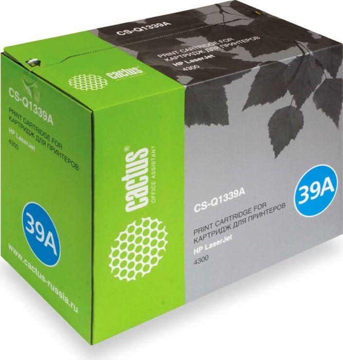 Cactus CS-Q1339A, Black тонер-картридж для HP LJ 4300CS-Q1339AТонер Картридж Cactus CS-Q1339A черный для HP LJ 4300 (18000стр.)