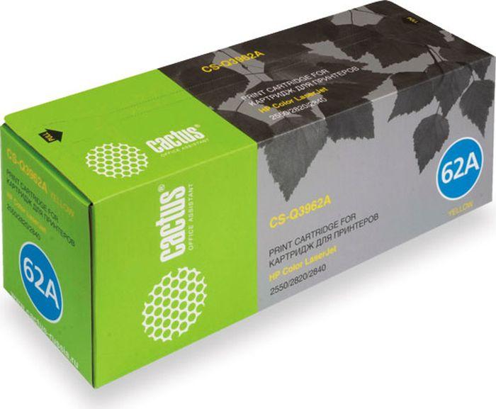 Cactus CS-Q3962A, Yellow тонер-картридж для HP LJ 2550/2550L/2550LN/2550NCS-Q3962AТонер-картридж Cactus CS-Q3962A для лазерных принтеров HP LJ 2550/2550L/2550LN/2550N. Расходные материалы Cactus для лазерной печати максимизируют характеристики принтера. Обеспечивают повышенную чёткость чёрного текста и плавность переходов оттенков серого цвета и полутонов, позволяют отображать мельчайшие детали изображения. Гарантируют надежное качество печати.