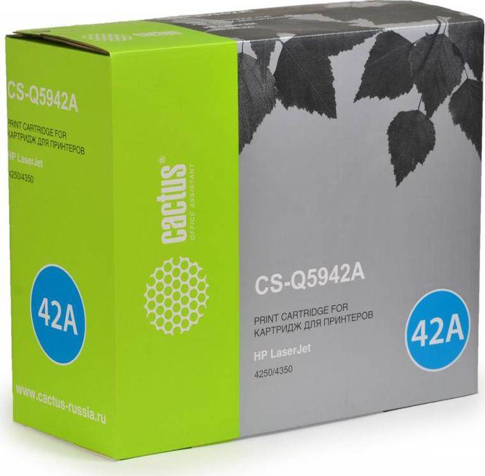 Cactus CS-Q5942A, Black тонер-картридж для HP LJ 4250/4350CS-Q5942AТонер-картридж Cactus CS-Q5942A для лазерных принтеров HP LJ 4250/4350. Расходные материалы Cactus для лазерной печати максимизируют характеристики принтера. Обеспечивают повышенную чёткость чёрного текста и плавность переходов оттенков серого цвета и полутонов, позволяют отображать мельчайшие детали изображения. Гарантируют надежное качество печати.