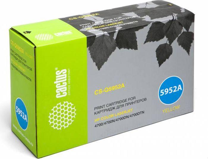 Cactus CS-Q5952A, Yellow тонер-картридж для HP CLJ 4700CS-Q5952AТонер Картридж Cactus CS-Q5952A желтый для HP CLJ 4700 (10000стр.)