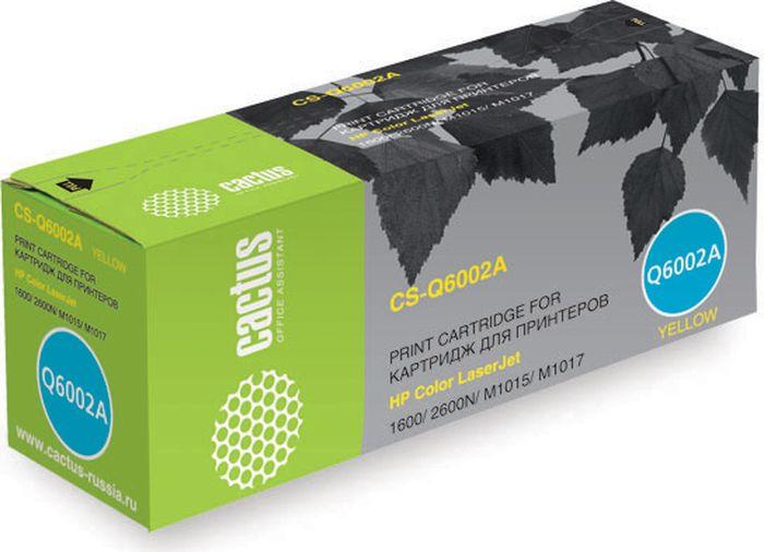 Cactus CS-Q6002A, Yellow тонер-картридж для HP Color LaserJet 1600/2600N/M1015/M1017CS-Q6002AТонер-картридж Cactus CS-Q6002A для лазерных принтеров HP Color LaserJet 1600/2600N/M1015/M1017. br> Расходные материалы Cactus для лазерной печати максимизируют характеристики принтера. Они обеспечивают повышенную чёткость чёрного текста и плавность переходов оттенков серого цвета и полутонов, позволяют отображать мельчайшие детали изображения. Гарантируют надежное качество печати.