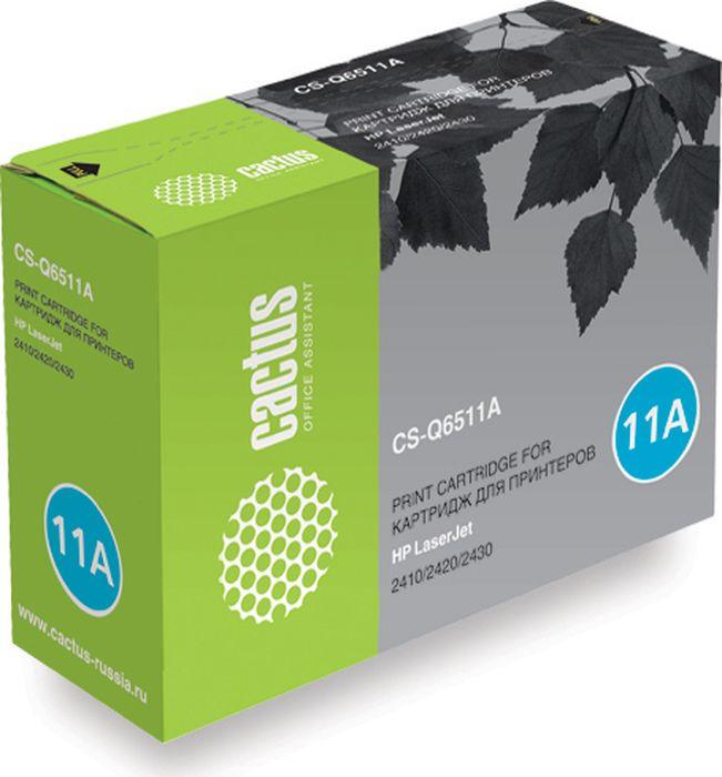 Cactus CS-Q6511A, Black тонер-картридж для HP LJ 2410/2420/2430CS-Q6511AТонер-картридж Cactus CS-Q6511A для лазерных принтеров HP LJ 2410/2420/2430. Расходные материалы Cactus для лазерной печати максимизируют характеристики принтера. Обеспечивают повышенную чёткость чёрного текста и плавность переходов оттенков серого цвета и полутонов, позволяют отображать мельчайшие детали изображения. Гарантируют надежное качество печати.