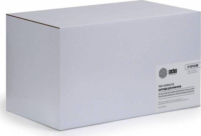 Cactus CS-Q7553XD, Black тонер-картридж для HP P2014/P2015/M2727CS-Q7553XDТонер-картридж Cactus CS-Q7553XD для лазерных принтеров HP P2014/P2015/M2727. Расходные материалы Cactus для лазерной печати максимизируют характеристики принтера. Обеспечивают повышенную чёткость чёрного текста и плавность переходов оттенков серого цвета и полутонов, позволяют отображать мельчайшие детали изображения. Гарантируют надежное качество печати. В комплект входит 2 тонер-картриджа.