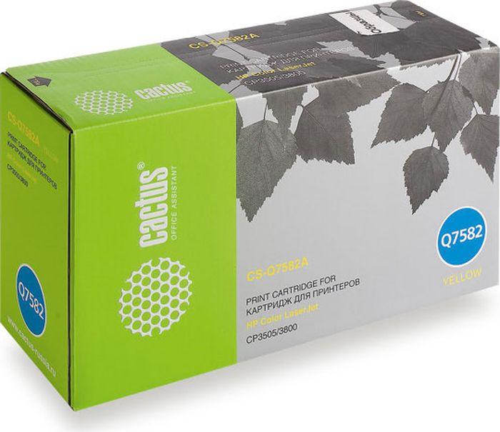 Cactus CS-Q7582A, Yellow тонер-картридж для HP LJ CP3505/3800CS-Q7582AТонер-картридж Cactus CS-Q7582A для лазерных принтеров HP CLJ CP3505/3800. Расходные материалы Cactus для лазерной печати максимизируют характеристики принтера. Обеспечивают повышенную чёткость чёрного текста и плавность переходов оттенков серого цвета и полутонов, позволяют отображать мельчайшие детали изображения. Гарантируют надежное качество печати.