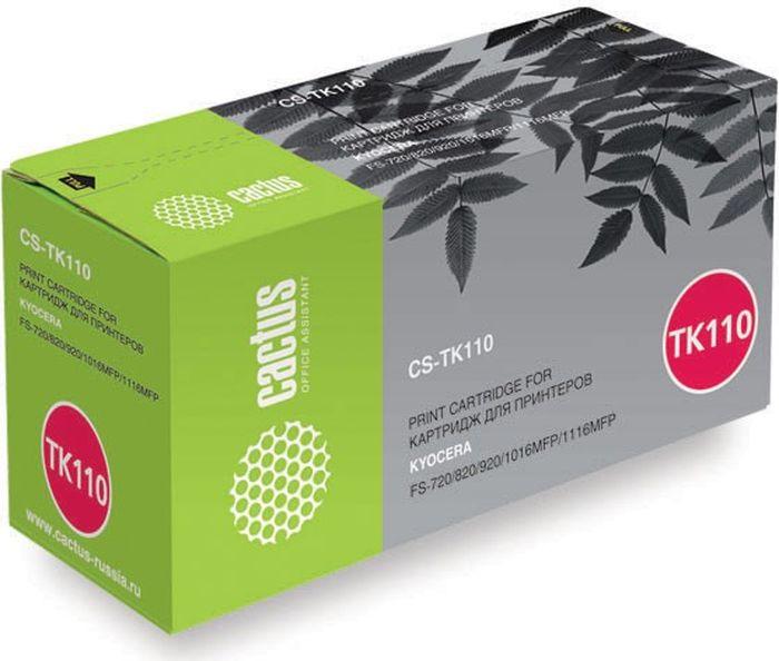 Cactus CS-TK110, Black тонер-картридж для Kyocera FS-720/820/920/1016MFP/1116MFPCS-TK110Тонер Картридж Cactus CS-TK110 черный для Kyocera FS-720/820/920/1016MFP/1116MFP (6000стр.)