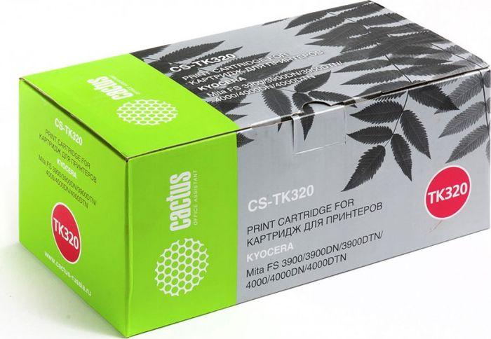 Cactus CS-TK320, Black тонер-картридж для Kyocera Mita FS 3900/3900DN/3900DTN/4000/4000DN/4000DTNCS-TK320Тонер-картридж Cactus CS-TK320 для лазерных принтеров Kyocera Mita FS 3900/3900DN/3900DTN/4000/4000DN/4000DTN. Расходные материалы Cactus для лазерной печати максимизируют характеристики принтера. Обеспечивают повышенную чёткость чёрного текста и плавность переходов оттенков серого цвета и полутонов, позволяют отображать мельчайшие детали изображения. Гарантируют надежное качество печати.