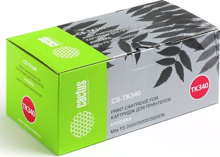 Cactus CS-TK340, Black тонер-картридж для Kyocera Mita FS 2020/2020D/2020DNCS-TK340Тонер Картридж Cactus CS-TK340 черный для Kyocera Mita FS 2020/2020D/2020DN (12000стр.)