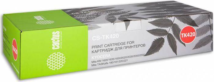 Cactus CS-TK420, Black тонер-картридж для Kyocera KM 1620/1635/1650/2020/2035/2050/2550/TASKalfa 180/181/220/221CS-TK420Тонер-картридж Cactus CS-TK420 для лазерных принтеров Kyocera KM 1620/1635/1650/2020/2035/2050/2550/TASKalfa 180/181/220/221. Расходные материалы Cactus для лазерной печати максимизируют характеристики принтера. Обеспечивают повышенную чёткость чёрного текста и плавность переходов оттенков серого цвета и полутонов, позволяют отображать мельчайшие детали изображения. Гарантируют надежное качество печати.