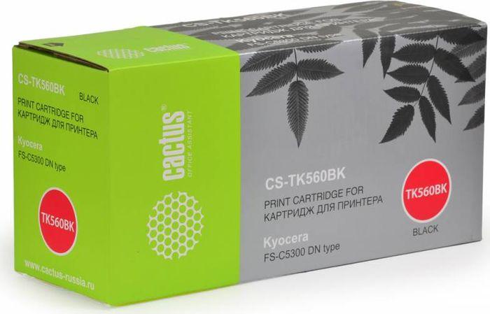 Cactus CS-TK560BK, Black тонер-картридж для Kyocera FS-C5300DNCS-TK560BKТонер Картридж Cactus CS-TK560BK черный для Kyocera FS-C5300DN (12000стр.)