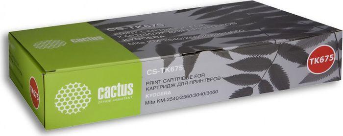 Cactus CS-TK675, Black тонер-картридж для Kyocera Mita KM 2540/2560/3040/3060CS-TK675Тонер-картридж Cactus CS-TK675 для лазерных принтеров Kyocera Mita KM 2540/2560/3040/3060. Расходные материалы Cactus для лазерной печати максимизируют характеристики принтера. Обеспечивают повышенную чёткость чёрного текста и плавность переходов оттенков серого цвета и полутонов, позволяют отображать мельчайшие детали изображения. Гарантируют надежное качество печати.
