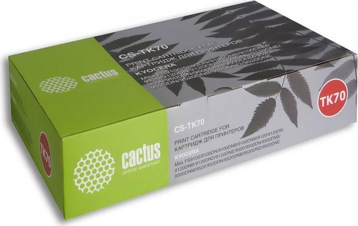 Cactus CS-TK70, Black тонер-картридж для Kyocera Mita FS 9100/9120/9500/9520CS-TK70Тонер Картридж Cactus CS-TK70 черный для Kyocera Mita FS 9100/9120/9500/9520 (40000стр.)