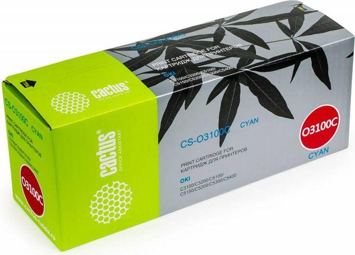 Cactus CS-O3100C, Cyan тонер-картридж для Oki C3100/C3200/C5100/C5150/C5200/C5300/C5400CS-O3100CТонер Картридж Cactus CS-O3100C голубой для Oki C3100/C3200/C5100/C5150/C5200/C5300/C5400 (5000стр.)