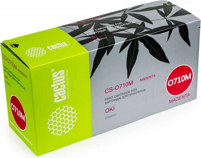 Cactus CS-O710M, Magenta тонер-картридж для Oki C710/711CS-O710MТонер Картридж Cactus CS-O710M пурпурный для Oki C710/711 (11500стр.)