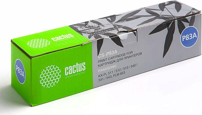 Cactus CS-P83A, Black тонер-картридж для Panasonic KX-FLM653RU/FLM663RU/FL513RU/FL543RU