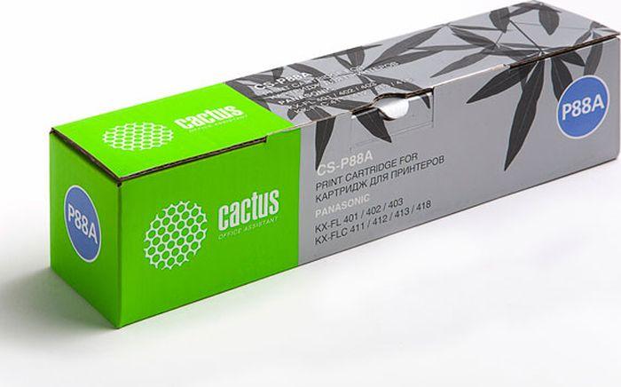 Cactus CS-P88A, Black тонер-картридж для Panasonic KX-FL401/402/403/423 FLC411/412/413/418CS-P88AТонер Картридж Cactus CS-P88A черный для Panasonic KX-FL401/402/403/423 FLC411/412/413/418 (2000стр.)