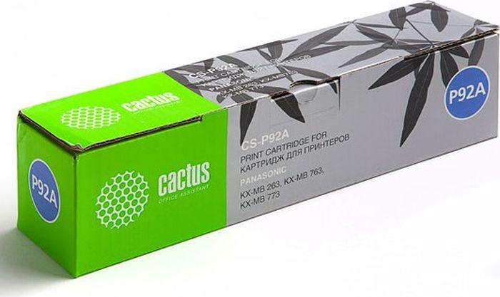 Cactus CS-P92A, Black тонер-картридж для Panasonic KX-MB263/KX-MB763/KX-MB773CS-P92AТонер-картридж Cactus CS-P92A для лазерных принтеров Panasonic KX-MB263/KX-MB763/KX-MB773. Расходные материалы Cactus для лазерной печати максимизируют характеристики принтера. Обеспечивают повышенную чёткость чёрного текста и плавность переходов оттенков серого цвета и полутонов, позволяют отображать мельчайшие детали изображения. Гарантируют надежное качество печати.