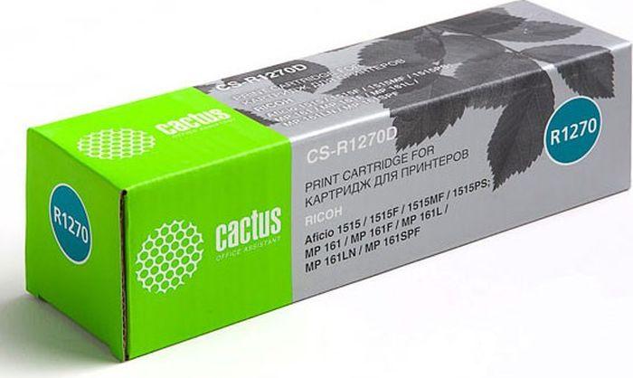 Cactus CS-R1270D, Black тонер-картридж для Ricoh Aficio 1515/1515F/1515MF/1515PS/ MP 161/161F/161L/161LN/161SPFCS-R1270DКартридж Cactus CS-R1270D для лазерных принтеров Ricoh. Расходные материалы CACTUS для монохромной лазерной печати максимизируют характеристики принтера. Обеспечивают повышенную чёткость чёрного текста и плавность переходов оттенков серого цвета и полутонов, позволяют отображать мельчайшие детали изображения. Обеспечивают надежное качество печати.