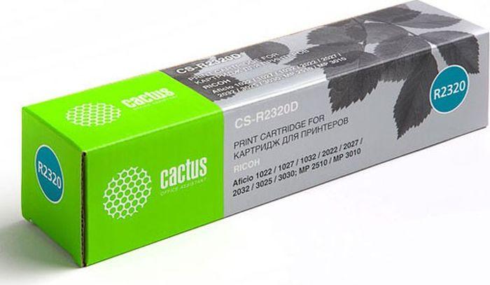 Cactus CS-R2320D, Black тонер-картридж для Ricoh Aficio 1022/1027/1032/2022/2027/2032/3025/3030/MP 2510/3010CS-R2320DТонер-картридж Cactus CS-R2320D для лазерных принтеров Ricoh Aficio 1022/1027/1032/2022/2027/2032/3025/3030/MP 2510/3010. Расходные материалы Cactus для лазерной печати максимизируют характеристики принтера. Обеспечивают повышенную чёткость чёрного текста и плавность переходов оттенков серого цвета и полутонов, позволяют отображать мельчайшие детали изображения. Гарантируют надежное качество печати.
