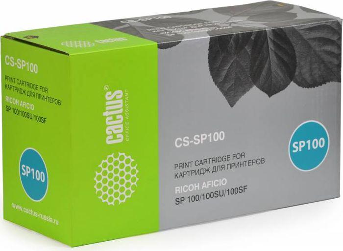 Cactus CS-SP100, Black тонер-картридж для Ricoh SP100/100SU/100SFCS-SP100Картридж Cactus CS-SP100 для лазерных принтеров Ricoh SP100, 100SU, 100SF. Расходные материалы CACTUS для монохромной лазерной печати максимизируют характеристики принтера. Обеспечивают повышенную чёткость чёрного текста и плавность переходов оттенков серого цвета и полутонов, позволяют отображать мельчайшие детали изображения. Обеспечивают надежное качество печати.