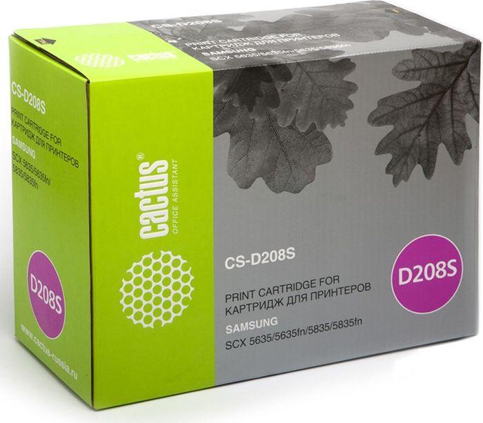 Cactus CS-D208S, Black тонер-картридж для Samsung SCX-5835FN/5635FNCS-D208SТонер Картридж Cactus CS-D208S черный для Samsung SCX-5835FN/5635FN (7500стр.)