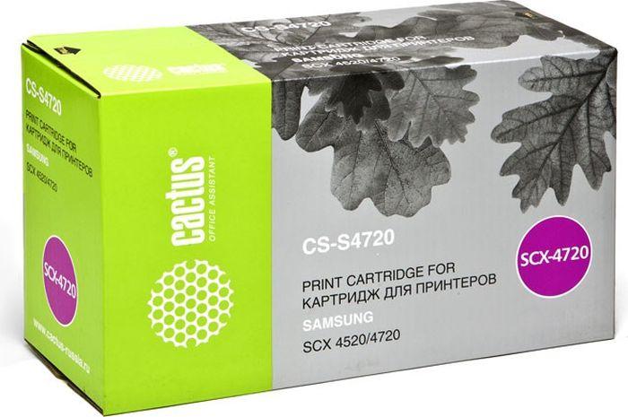 Cactus CS-S4720, Black тонер-картридж для Samsung SCX-4520/4720/4720F/4720FNCS-S4720Тонер-картридж Cactus CS-S4720 для лазерных принтеров Samsung SCX-4520/4720/4720F/4720FN. Расходные материалы Cactus для лазерной печати максимизируют характеристики принтера. Обеспечивают повышенную чёткость чёрного текста и плавность переходов оттенков серого цвета и полутонов, позволяют отображать мельчайшие детали изображения. Гарантируют надежное качество печати.